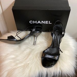 CHANEL Strappy Heels Size 37.5